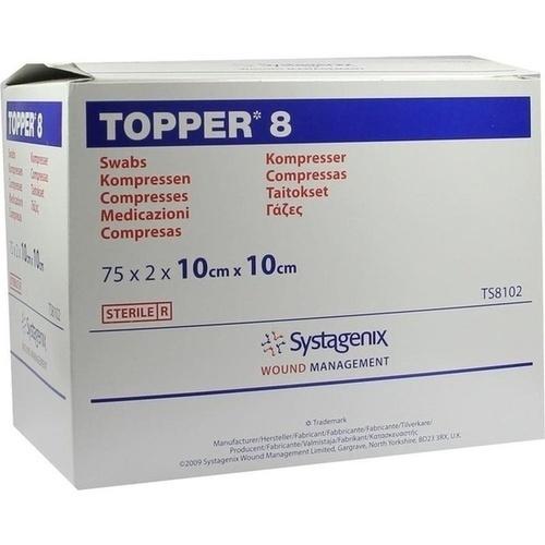 TOPPER 8 STER 10x10cm, 75X2 ST, Kci Medizinprodukte GmbH