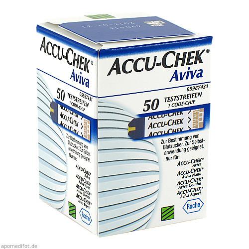 ACCU CHEK Aviva TeststreifenPlasma II, 1X50 ST, Emra-Med Arzneimittel GmbH
