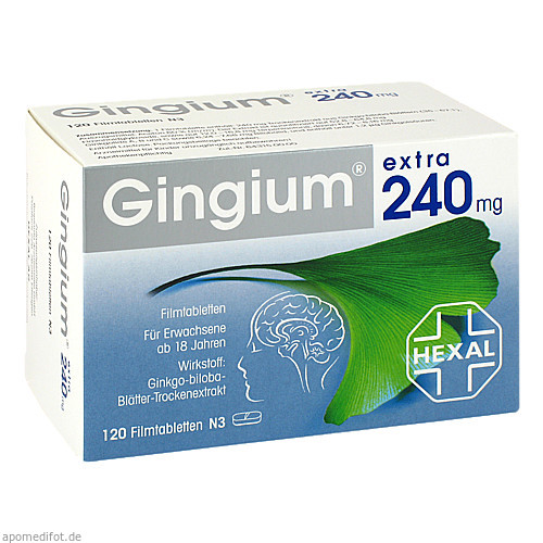 Gingium extra 240mg Filmtabletten, 120 ST, HEXAL AG