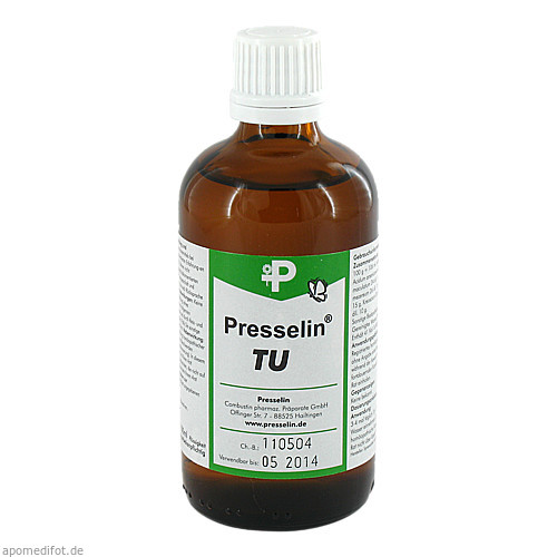 PRESSELIN TU Geschwulste Tropfen, 100 ML, COMBUSTIN Pharmaz. Präparate GmbH