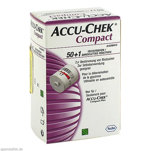 Accu-Chek Compact Teststreifen, 51 ST, Docpharm Arzneimittelvertrieb GmbH & Co. KG Aa