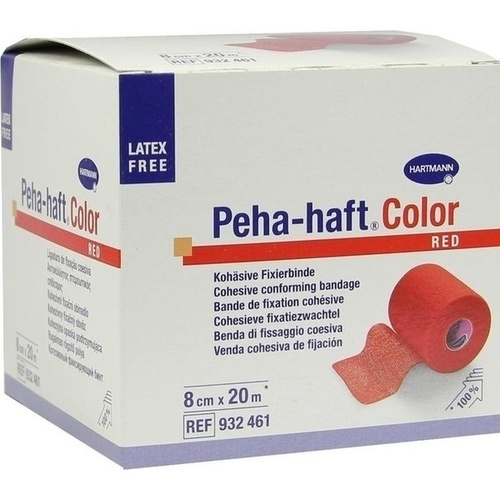 Peha-haft Color Fixierbinde latexfrei 8cmx20m rot, 1 ST, Paul Hartmann AG