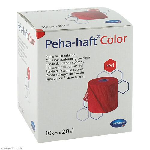 Peha-haft Color Fixierbinde latexfrei 10cmx20m rot, 1 ST, Paul Hartmann AG
