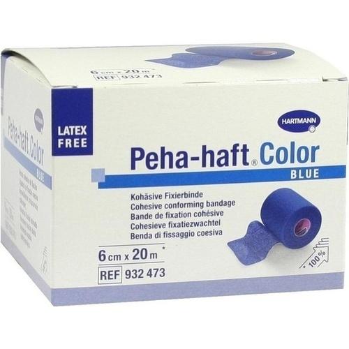 Peha-haft Color Fixierbinde latexfrei 6cmx20m blau, 1 ST, Paul Hartmann AG