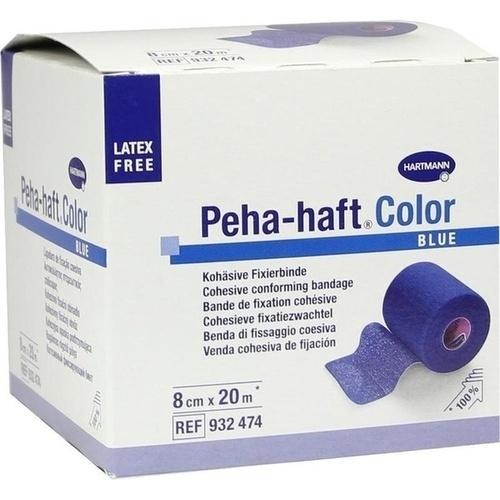 Peha-haft Color Fixierbinde latexfrei 8cmx20m blau, 1 ST, Paul Hartmann AG