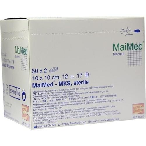 Schlitzkompressen 10x10 12-fach steril, 50X2 ST, Maimed GmbH