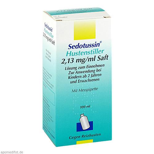 SEDOTUSSIN Hustenstiller Saft, 100 ML, Sanofi-Aventis Deutschland GmbH GB Selbs