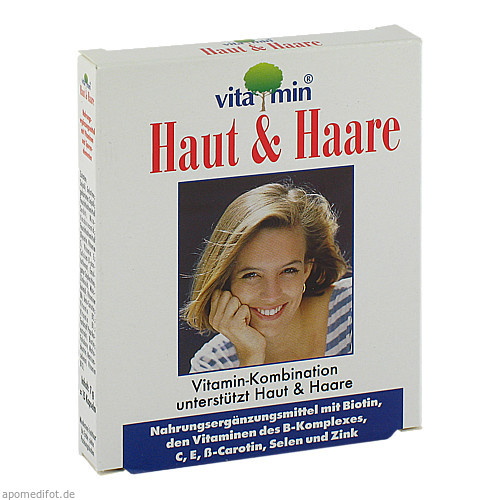 Haut+Haare Vitamin Natur Pharma, 15 ST, Quiris Healthcare GmbH & Co. KG