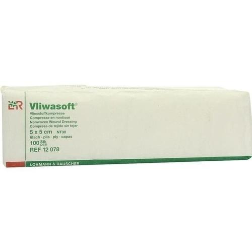 Vliwasoft Vlieskompressen unsteril 5x5cm, 100 ST, Lohmann & Rauscher GmbH & Co. KG