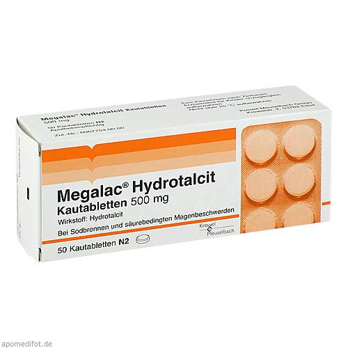 MEGALAC Hydrotalcit Kautabletten, 50 ST, Krewel Meuselbach GmbH