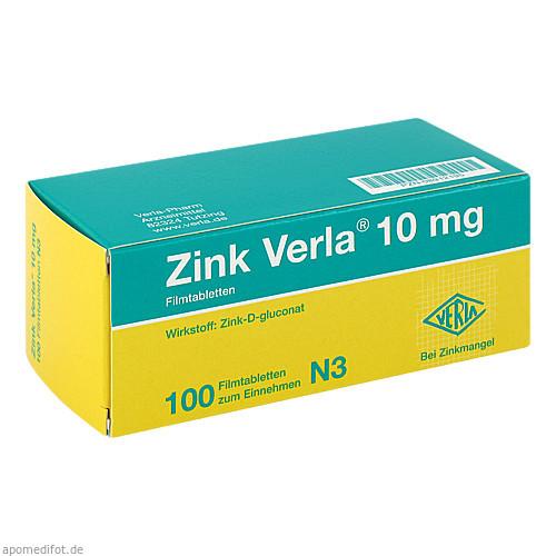 ZINK VERLA 10MG, 100 ST, Verla-Pharm Arzneimittel GmbH & Co. KG