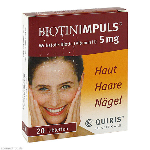 BIOTIN IMPULS 5mg, 20 ST, Quiris Healthcare GmbH & Co. KG