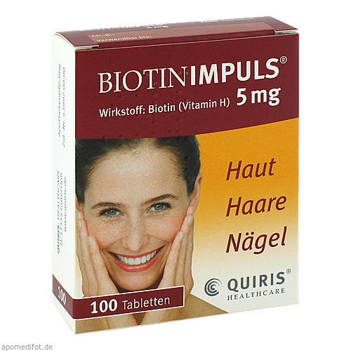 BIOTIN IMPULS 5mg, 100 ST, Quiris Healthcare GmbH & Co. KG
