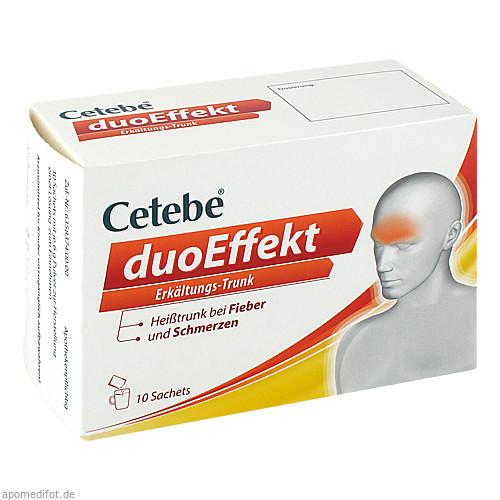 CETEBE duoEffekt ErkältungsTrunk Pulver, 10 ST, GlaxoSmithKline Consumer Healthcare GmbH & Co. KG