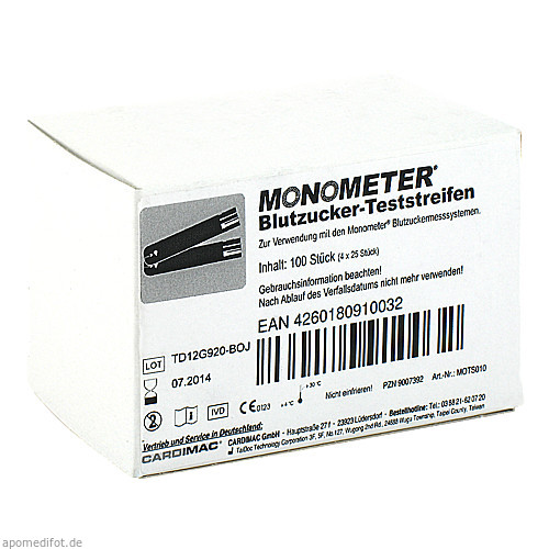 MONOMETER Teststreifen, 4X25 ST, Cardimac GmbH
