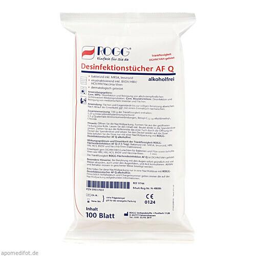 ROGG-DESINFEKTIONSTUECHER-AFQ-alkfr. Refill, 100 ST, Rogg Verbandstoffe GmbH & Co. KG