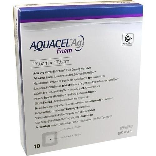 AQUACEL Ag Foam adhäsiv 17.5x17.5cm, 10 ST, Convatec (Germany) GmbH