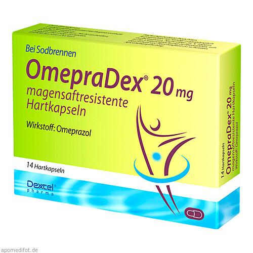 OmepraDex 20mg, 14 ST, Dexcel Pharma GmbH