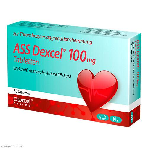 ASS Dexcel 100 mg Tabletten, 50 ST, Dexcel Pharma GmbH