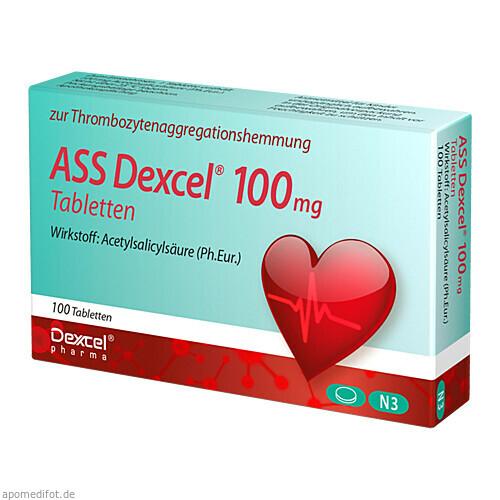 ASS Dexcel 100 mg Tabletten, 100 ST, Dexcel Pharma GmbH
