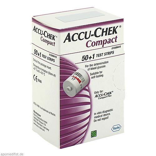 ACCU-CHEK Compact Teststreifen, 51 ST, Eurimpharm Arzneimittel GmbH