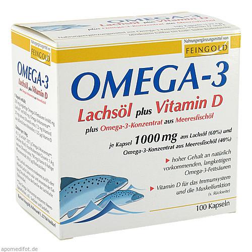 Omega-3 Lachsöl plus Vitamin D plus Omega-3-Konzen, 100 ST, Burton Feingold