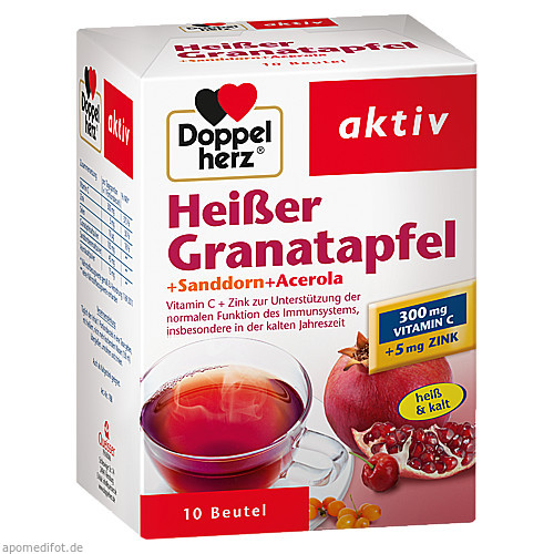 Doppelherz Heißer Granatapfel + Sanddorn + Acerola, 10 ST, Queisser Pharma GmbH & Co. KG