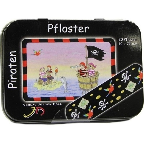 KINDERPFLASTER PIRATEN - DOSE, 20 ST, Axisis GmbH