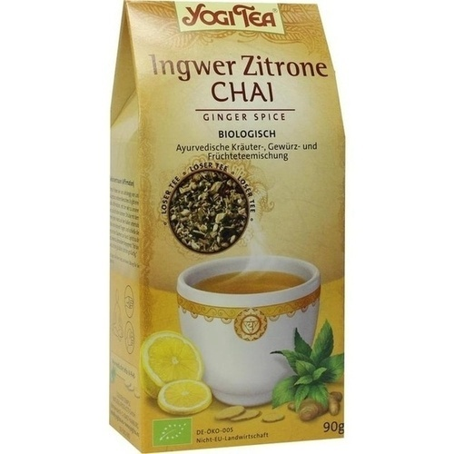 Yogi Tea Ingwer Zitrone loser Tee, 90 G, Taoasis GmbH Natur Duft Manufaktur