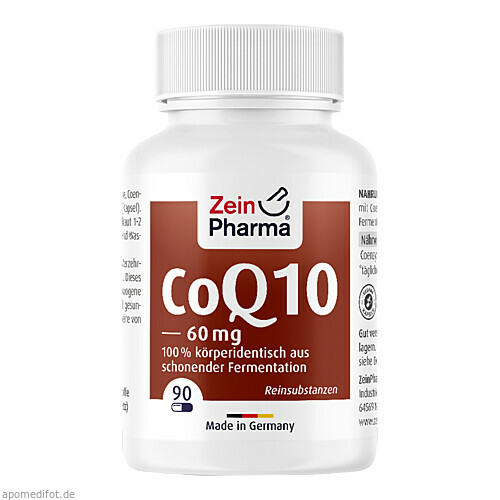 Coenzym Q10 Kapseln 60mg, 90 ST, Zein Pharma - Germany GmbH