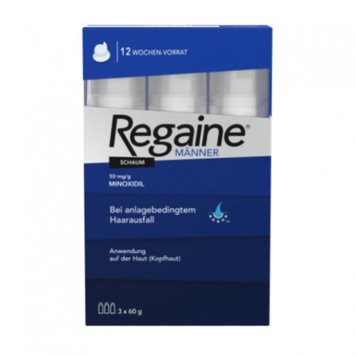 Regaine Männer Schaum 5%, 3X60 ML, Johnson & Johnson GmbH (Otc)