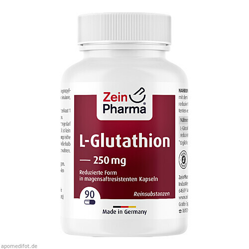 L-Glutathion (reduziert) Kapseln 250mg, 90 ST, Zein Pharma - Germany GmbH