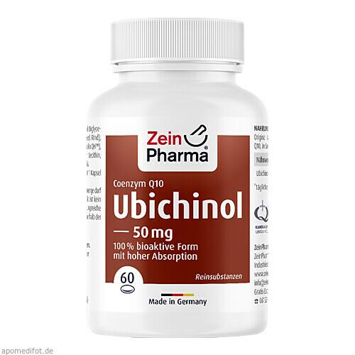 Ubichinol CoQ-10 Kapseln 50mg, 60 ST, Zein Pharma - Germany GmbH