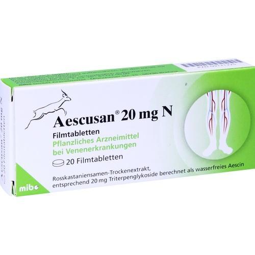AESCUSAN 20 mg N Filmtabletten, 20 ST, MIBE GmbH Arzneimittel