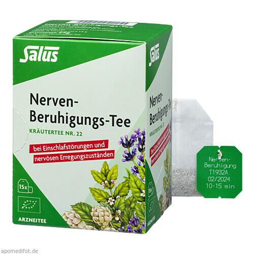 Nerven-Beruhigungs-Tee Kräutertee Nr. 22 bio Salus, 15 ST, Salus Pharma GmbH
