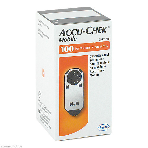 ACCU Chek Mobile Testkassette Plasma II, 100 ST, Orifarm GmbH