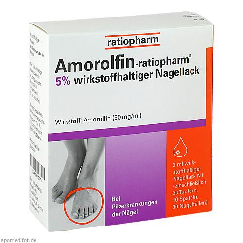 Amorolfin-ratiopharm 5% wirkstoffh. Nagellack, 3 ML, ratiopharm GmbH