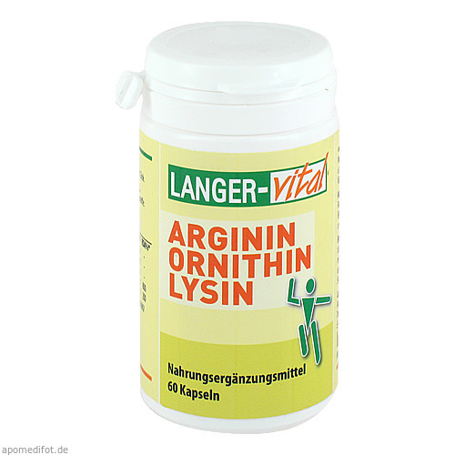Arginin/Ornithin 1000mg/TG, 60 ST, Langer Vital GmbH