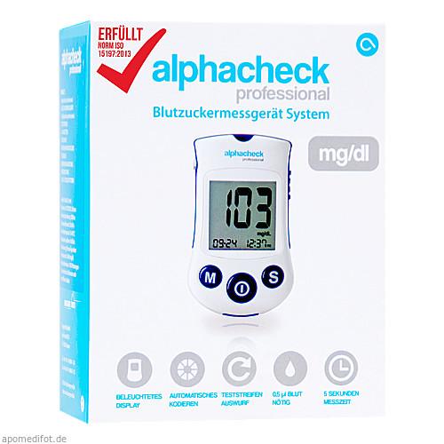 alphacheck professional Blutzuckermessgerät mg/dl, 1 ST, Berger Med GmbH