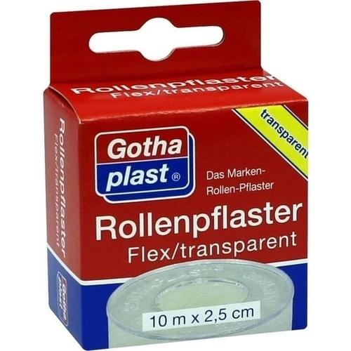 Rollenplaster Flex Transparent 10mx2.5m Euroaufhän, 1 ST, Gothaplast GmbH