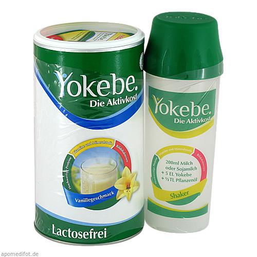 Yokebe Lactosefrei Vanille Starterpaket mit Shaker, 500 G, Naturwohl Pharma GmbH