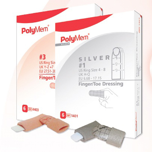 PolyMem Finger Silber Gr.1, 6 ST, Mediset Clinical Products GmbH