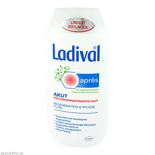 Ladival Apres Pflege Akut Beruhigungs Fluid, 200 ML, STADA GmbH
