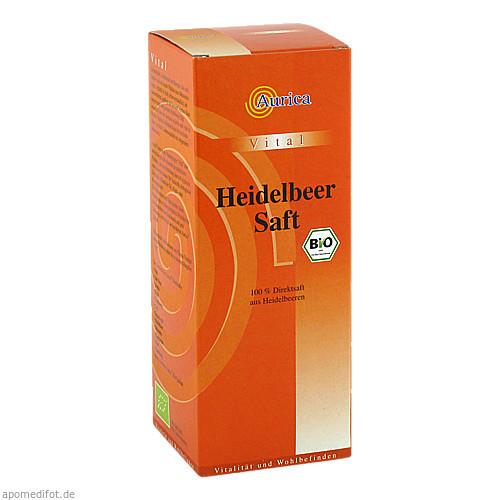 Heidelbeer 100% Direktsaft Bio, 500 ML, AURICA Naturheilmittel und Naturwaren GmbH