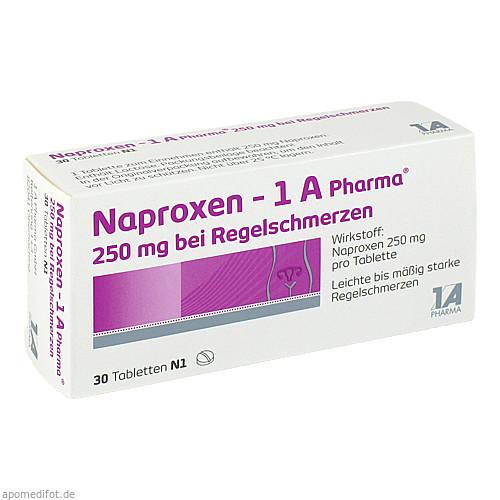 Naproxen - 1 A Pharma 250 mg bei Regelschmerzen, 30 ST, 1 A Pharma GmbH