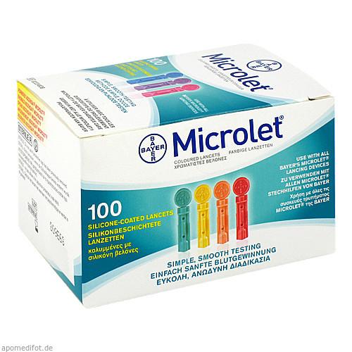 MICROLET Lanzetten farbig, 100 ST, Eurimpharm Arzneimittel GmbH
