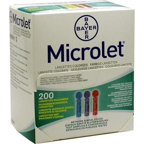 MICROLET Lanzetten farbig, 200 ST, Eurimpharm Arzneimittel GmbH