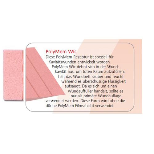 PolyMem Wic Füll-Pad 2.5x8cm, 14 ST, Mediset Clinical Products GmbH