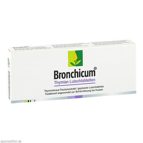 Bronchicum Thymian Lutschtabletten, 20 ST, MCM KLOSTERFRAU Vertr. GmbH