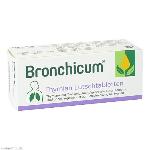 Bronchicum Thymian Lutschtabletten, 50 ST, MCM Klosterfrau Vertriebsgesellschaft mbH